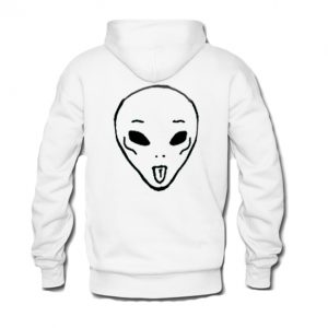 Alien Funny Face Hoodie Back