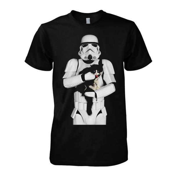 Trooper Cuddling Cat T-Shirt