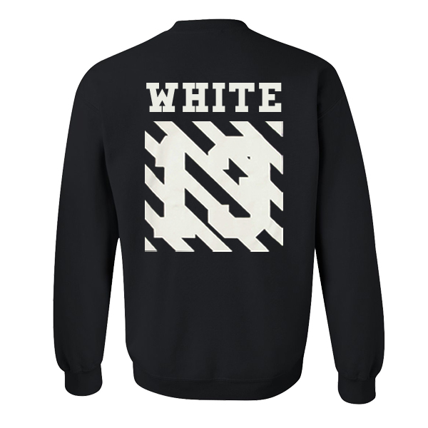 White 13 Sweatshirt Back