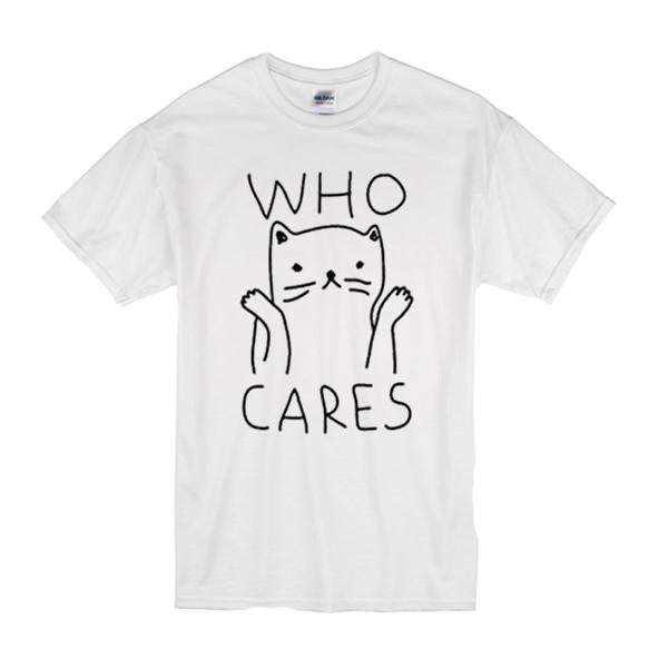 Who Cares Cat T-Shirt