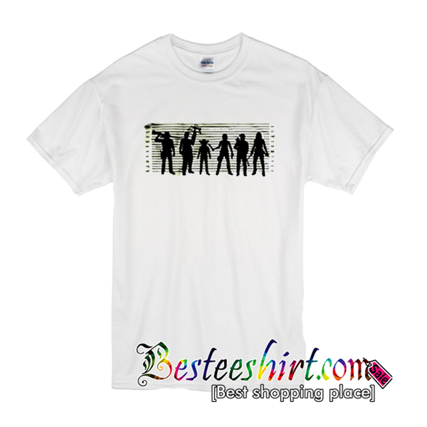 The Walking Dead The Usual Dead Police Lineup T-Shirt