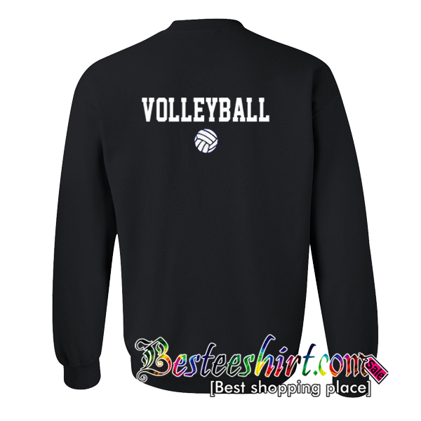 Volleyball Sweatshirt Back