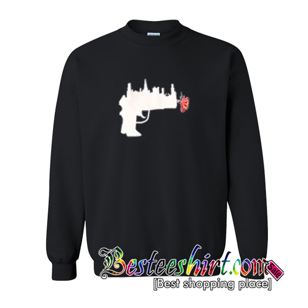 Abstrack Gun Rose Sweatshirt