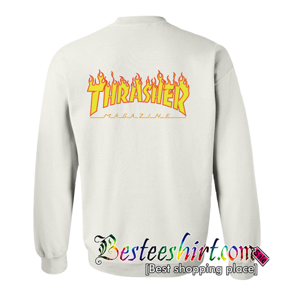 Thrasher Sweatshirt Back