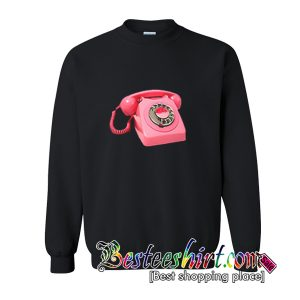 Pink Retro Phone Sweatshirt