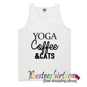 Yoga Coffee and Cats Tank Top