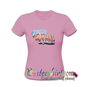 World's Greatest Grandpa Pink T shirt