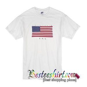 USA california state flag t-shirt