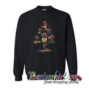 Wine santa hat Christmas Tree Sweatshirt