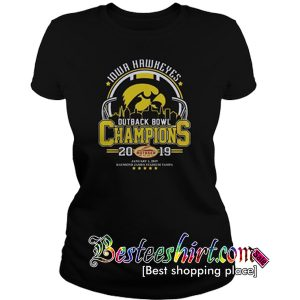 10wa hawkeyes outback bowl champions 2019 T Shirt RK07