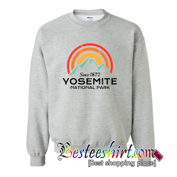 Yosemite National Park Retro Crewneck Sweatshirt (BSM)