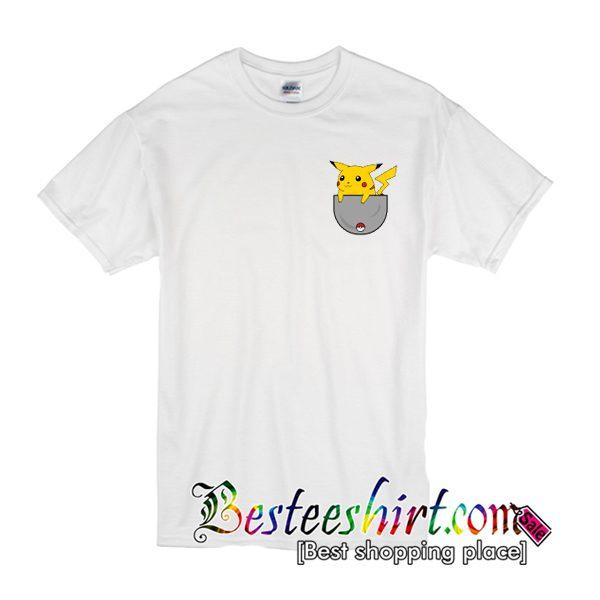 Pocket Pikachu Pokemon T Shirt (BSM)