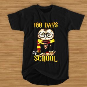 100 Days Owl of school Gryffindor Magic Wizard t shirt (BSM)