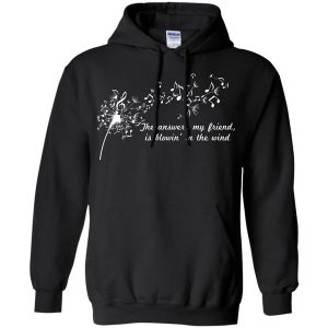 The Answer My Friend Is Blowing In The Wind Black Hoodie (BSM)