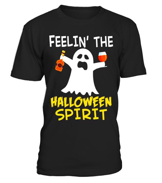 Feelin' The Halloween Spirit Halloween Drinking T-Shirt (BSM)