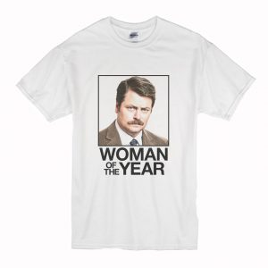 Ron Swanson Woman of the Year Parks and Recreation T-Shirt (BSM)